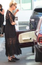 AMBER HEARD Out in Her Classic Ford 1965 Mustang Maroon in Beverly Hills 09/18/2019