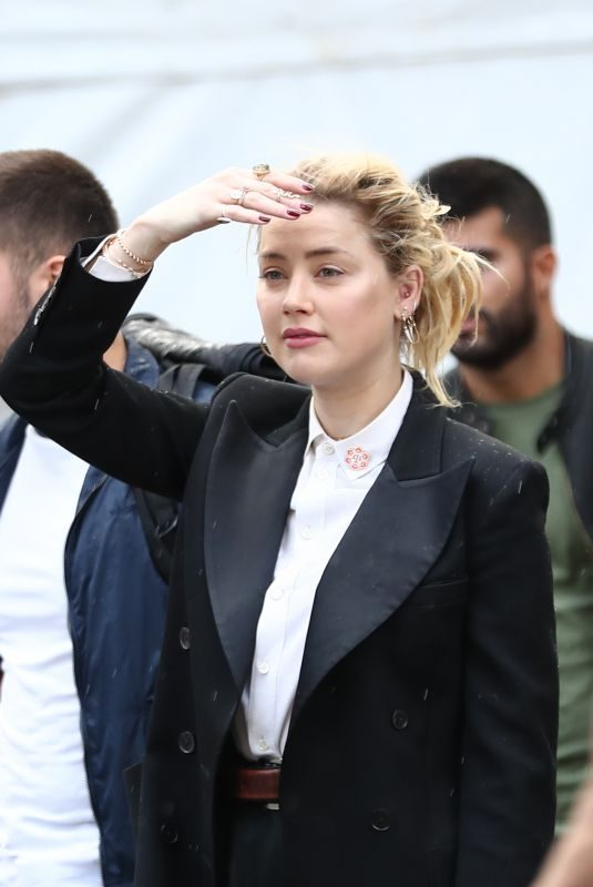 AMBER HEARD Out in Paris 09/27/2019