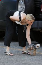 AMBER HEARD Out with Her Dog in Los Angeles 09/21/2019