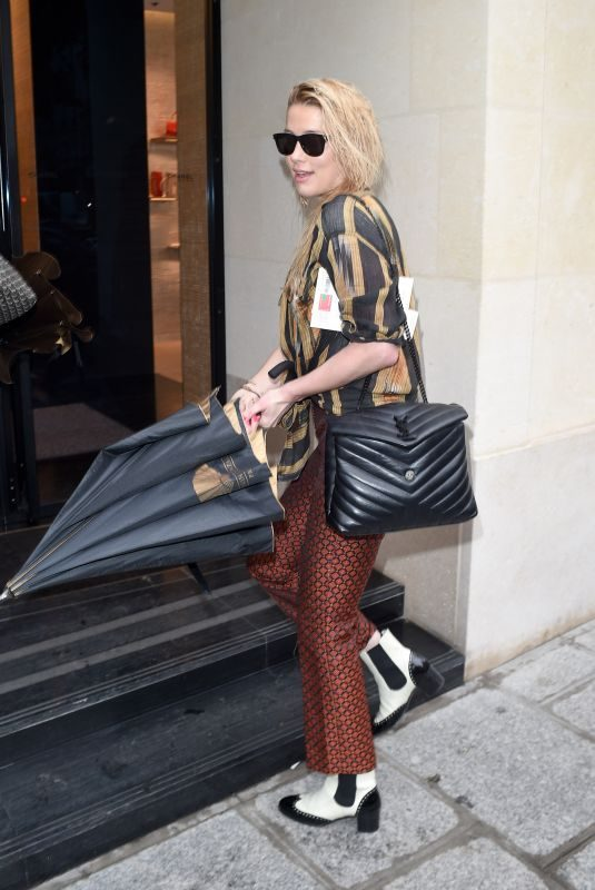 AMBER HEARD Shopping at Chanel Store in Paris 09/29/2019