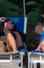 AMBER TURNER and CHLOE B in Bikinis at a Pool in Marbella09/16/2019