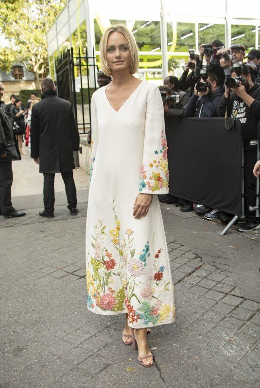 AMBER VALLETTA at Valentino Fashion Show in Paris 09/29/2019