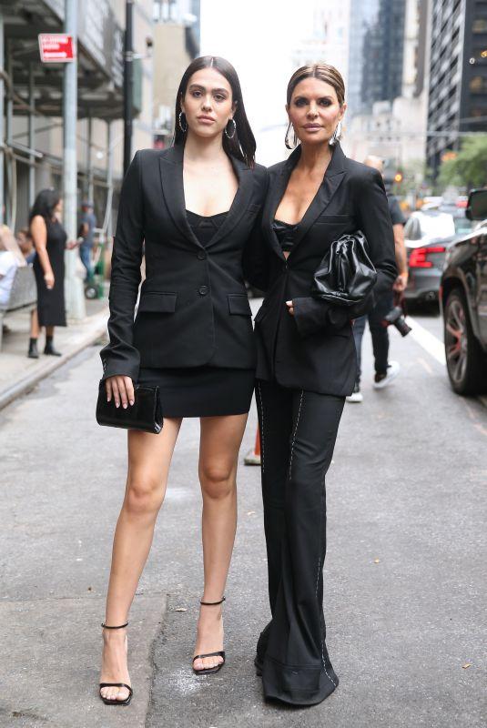 AMELIA HAMLIN and LISA RINNA Arrives at Vera Wang Fashion Show in New York 09/10/2019