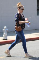 AMY ADAMS Out and About in Beverly Hills 08/28/2019