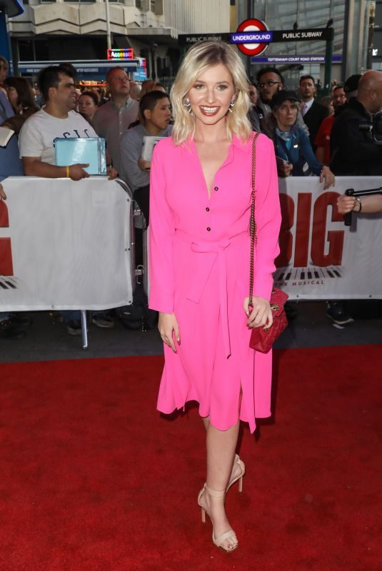 AMY HART at Big The Musical Press Night in London 09/17/2019