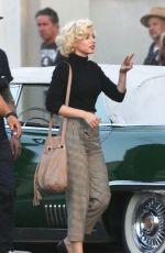 ANA DE ARMAS on the Set of Blonde in Los Angeles 09/16/2019