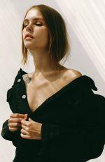 ANASTASIYA SCHEGLOVA on the Set of a Photoshoot, 2019