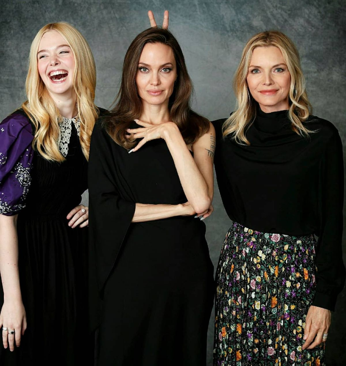 Angelina Jolie Michelle Pfeiffer And Elle Fanning