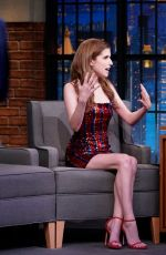 ANNA KENDRICK at Late Night with Seth Meyers in New York 09/25/2019