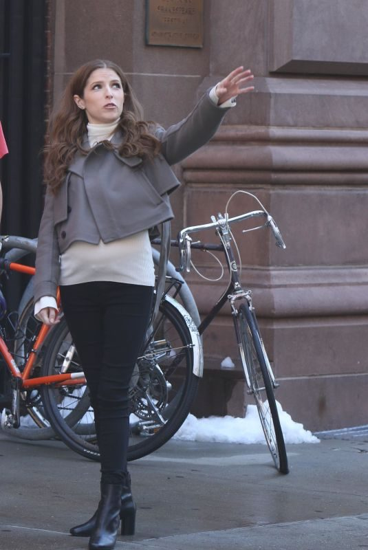 ANNA KENDRICK on the Set of Love Life in New York 09/06/2019