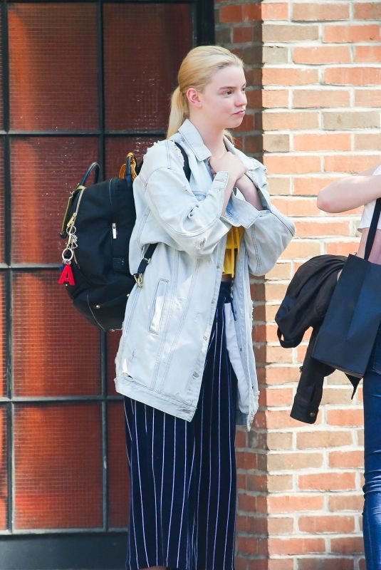 ANYA TAYLOR-JOY Out and About in New York 09/04/2019