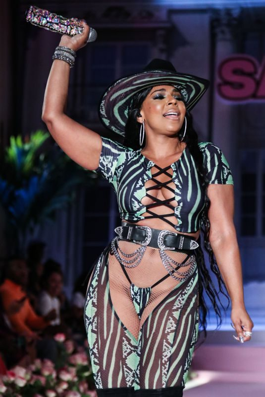 ASHANTI Performs at Pretty Little Thing x Saweetie Show at New York Fashion Week 09/08/2019