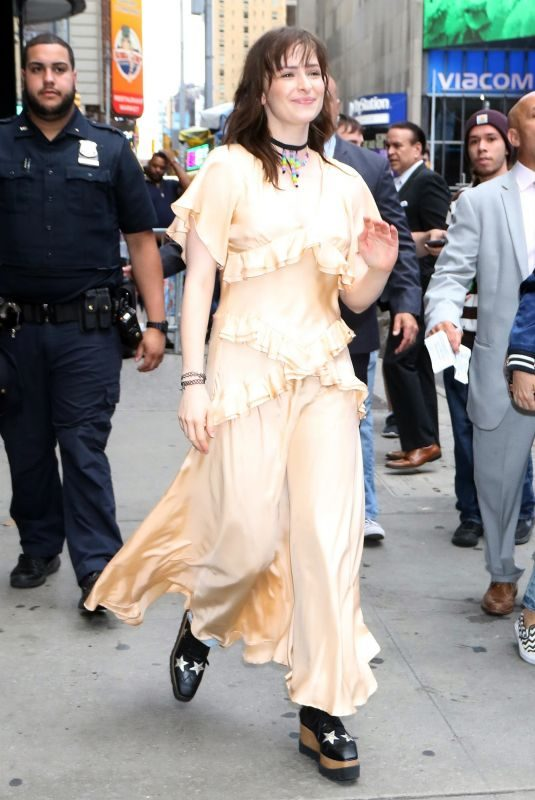 ASHLEIGH CUMMINGS Arrives at Good Morning America in New York 09/09/2019