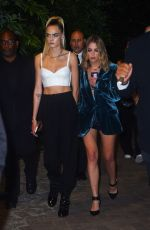 ASHLEY BENSON and CARA DELEVINGNE Arrives at DKNY Fashion Show in New York 09/09/2019