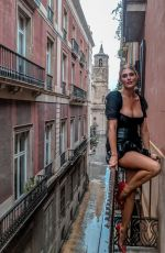 ASHLEY JAMES at Soho House in Barcelona - Instagram Photos 09/10/2019