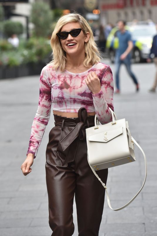 ASHLEY ROBERTS Arrives at Global Radio in London 09/16/2019
