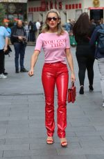 ASHLEY ROBERTS Arrives at Heart Radio in London 09/03/2019