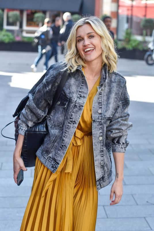 ASHLEY ROBERTS Leaves Heart Radio Breakfast Show in London 09/23/2019