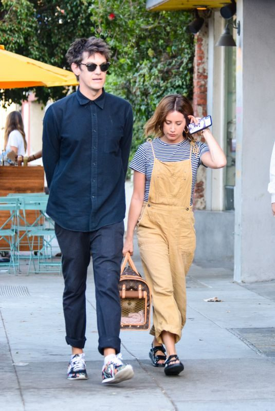 ASHLEY TISDALE and Christopher French Out in Los Angeles 09/11/2019
