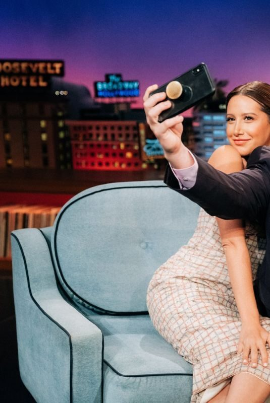 ASHLEY TISDALE at Late Late Show with James Corden 09/25/2019