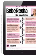 BEBE REXHA for Cosmopolitan Magazine, UK October 2019