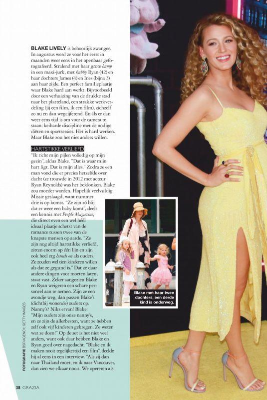 BLAKE LIVELY in Grazia Magazine, Netherlands August 2019