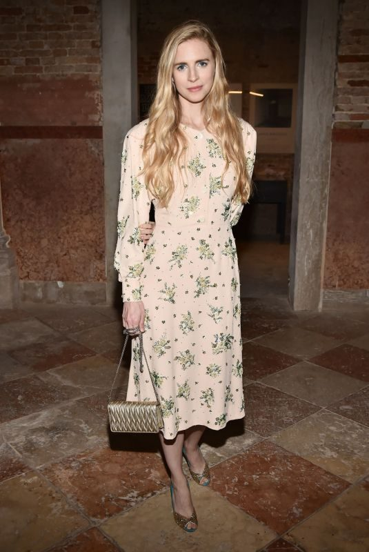 BRIT MARLING at Miu Miu Women's Tales Dinner at 76th Venice Film Festival 09/01/2019
