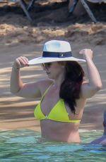 BRITNEY SPEARS in a Yellow Bikini at a Beach in Hawaii 09/10/2019