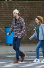 BRITT ROBERTSON and KJ Apa Out in New York 09/20/2019