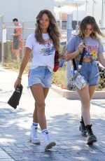 BROOKE BURKE in Denim Shorts Out in Malibu 08/31/2019