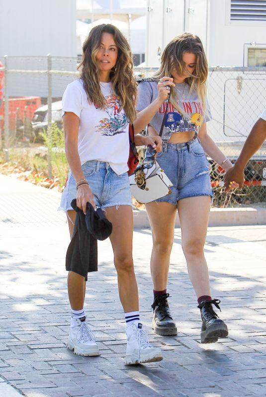 BROOKE BURKE in Denim Shorts Out in Malibu 08/31/2019