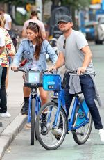 CAMILA MORRONE and Leonardo Dicaprio Riding Bikes Out in New York09/26/2019