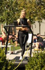CAMILLE KOSTEK Leading a Workout in Boston 09/15/2019