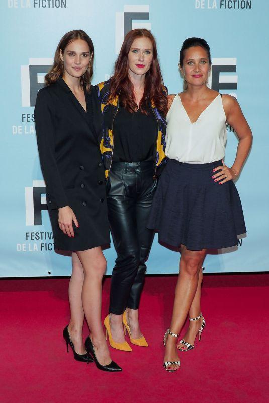 CAMILLE LOU, AUDREY FLEUROT and JULIE DE BONA at 21st LA Rochelle Fiction Festival in France 09/12/2019
