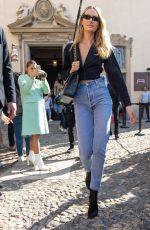 CANDICE SWANEPOEL Arrives at Etro Show at Milan Fashion Week 09/21/2019