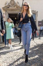 CANDICE SWANEPOEL Arrives at Etro Show at Milan Fashion Week 09/21/2019