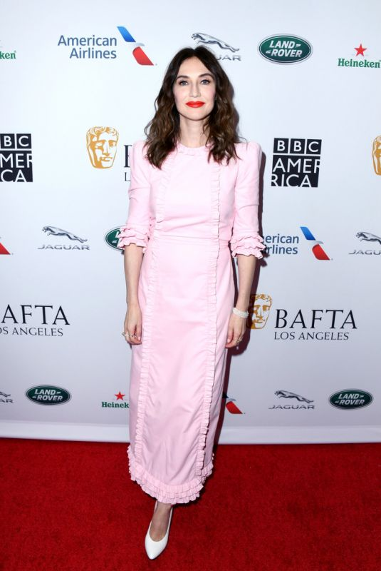 CARICE VAN HOUTEN at Bafta LA + BBC America TV Tea Party 09/21/2019