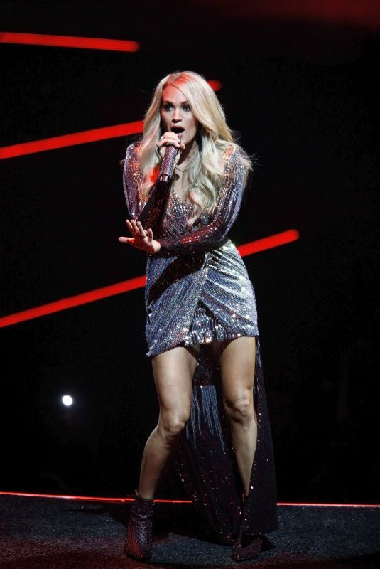 CARRIE UNDERWOOD Performs at Pepsi Center in Denver 09/16/2019