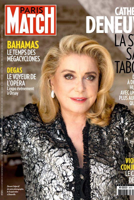 CATHERINE DENEVUE in Paris Match Magazine, September 2019