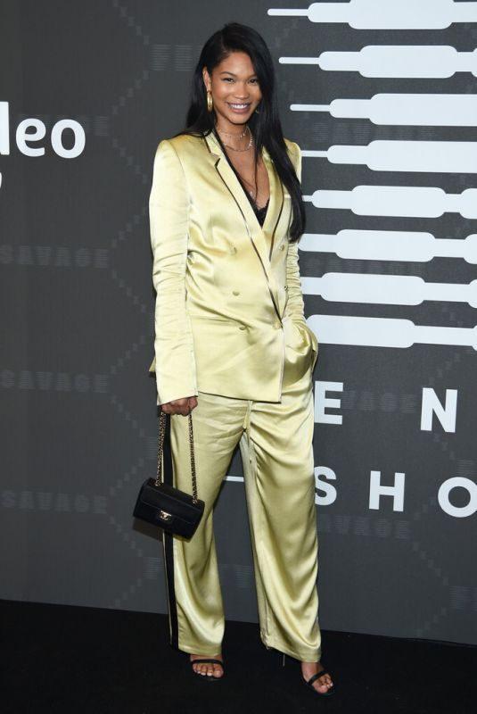 CHANEL IMAN at Savage x Fenty Show in Brooklyn 09/10/2019