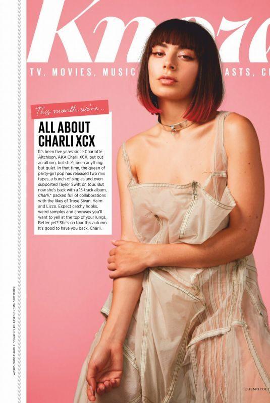 CHARLI XCX on the Cover of Cosmopolitan Magaziine, UK October 2019