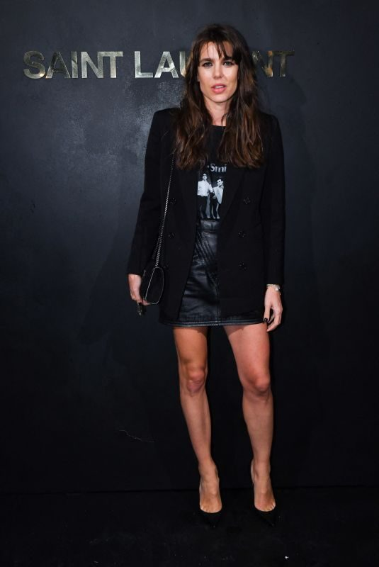CHARLOTTE CASIRAGHI at Saint Laurent Womenswear Fasion Show at PFW in Paris 09/24/2019