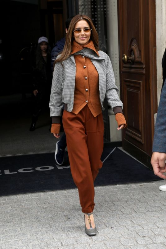 CHERYL COLE Leaves Her Hotel in Paris 09/28/2019