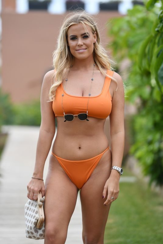 CHLOE MEADOWS in Bikini on the Set of TOWIE in Marbella 09/22/2019