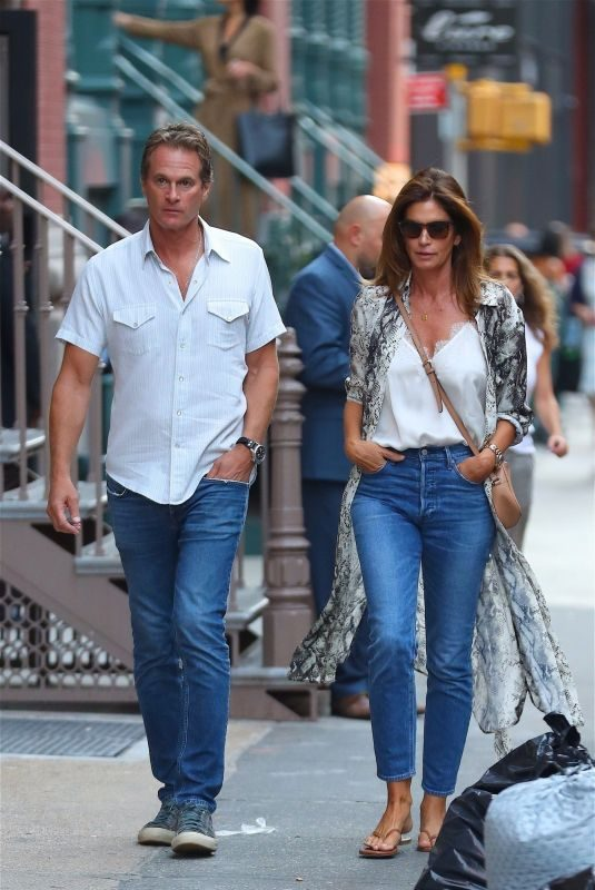 CINDY CRAWFORD and Rande Gerber in Denims Out in New York 09/03/2019