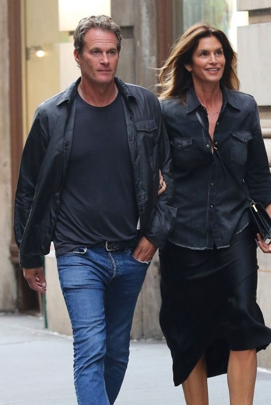 CINDY CRAWFORD and Rande Gerber Out for Dinner in New York 09/02/2019