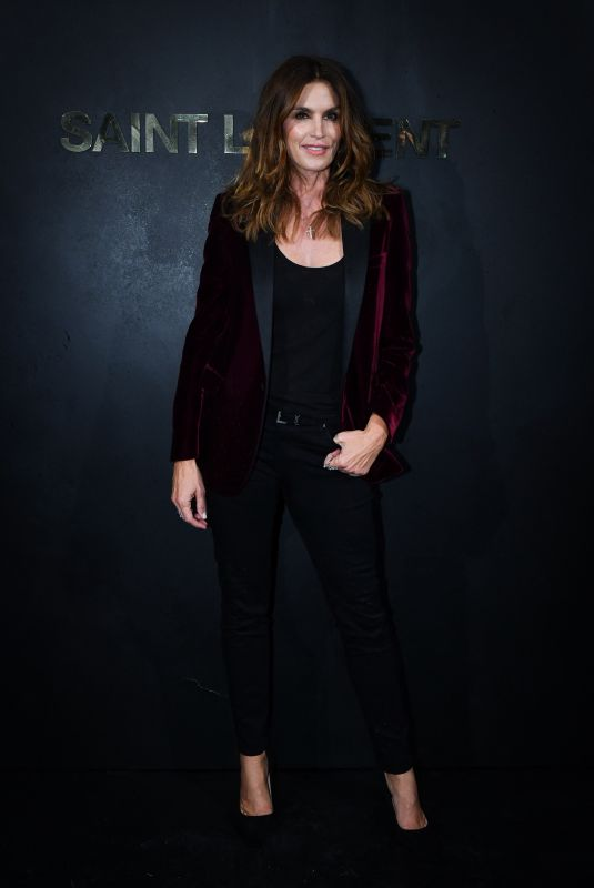 CINDY CRAWFORD at Saint Laurent Womenswear Fasion Show at PFW in Paris 09/24/2019