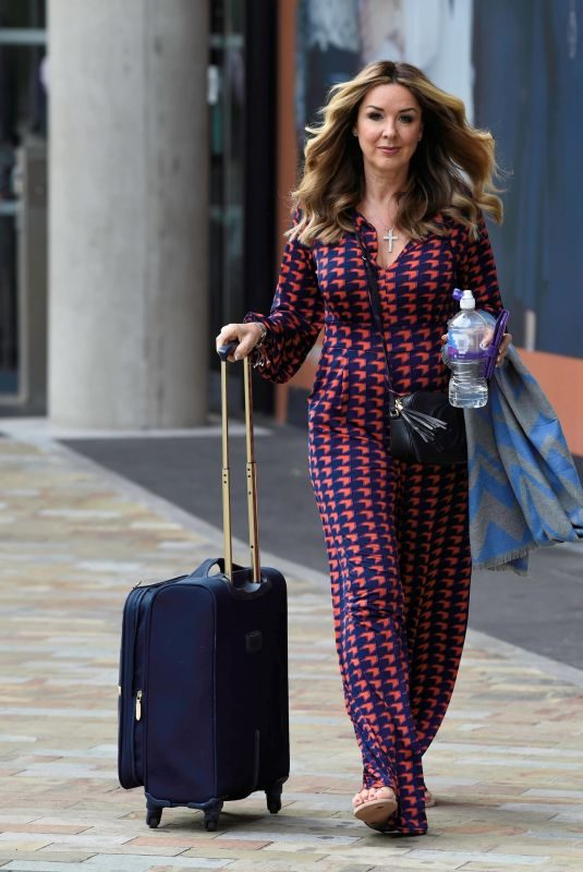 CLAIRE SWEENEY Leaves BBC Breakfast Studios in Manchester 09/18/2019