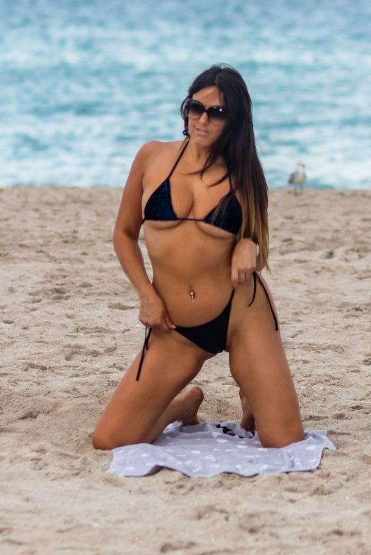 CLAUDIA ROMANI in Bikini at South Beach in Miami 09/25/2019