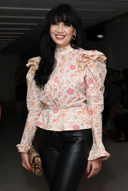 DAISY LOWE at Matty Bovan Fashion Show at LFW in London 09/13/2019